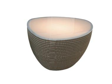 Lampada da terra / tavolino in carta kraft STONE LUCE
