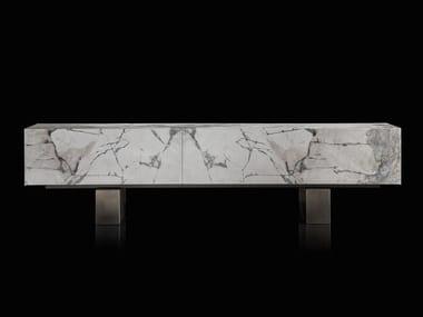 Stone sideboard with flap doors SLIM SIDE | Stone sideboard
