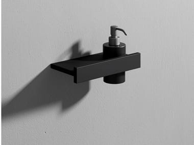 Corian® Bathroom soap dispenser / bathroom wall shelf STONE | Wall-mounted Bathroom soap dispenser