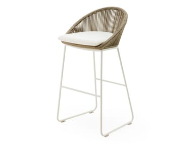 Aluminium stool with back INFINITY | Stool
