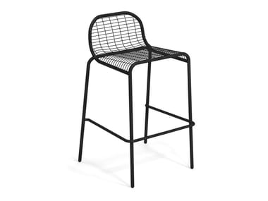 High steel garden stool with footrest CENTINA | Garden stool