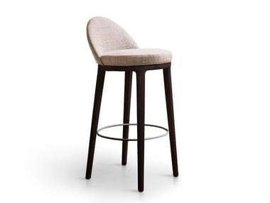 High fabric stool with back LUCYLLE | Stool
