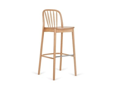 High stackable beech stool ALDO H-1070