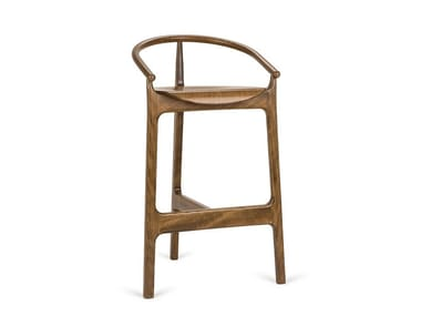 High beech stool with back EVO H-2940
