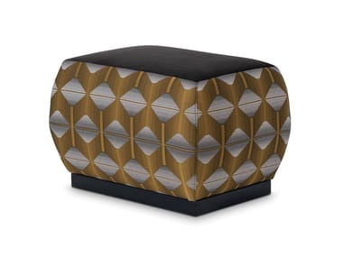 Upholstered rectangular fabric pouf CLUB | Pouf