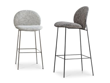 High fabric stool with back OLA | Stool