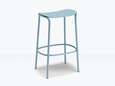High steel stool with footrest TRICK | Stool