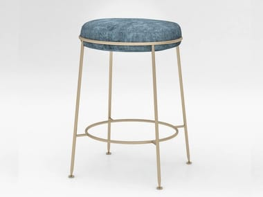 Velvet barstool with integrated cushion AMARETTO | Stool