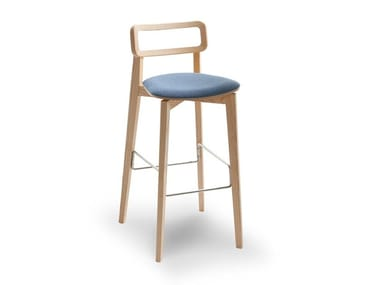 High stool with integrated cushion ARIANNA | Stool with integrated cushion