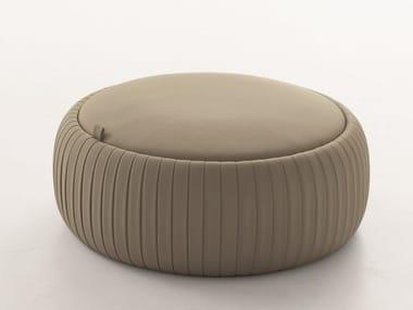 Storage round Eco-leather pouf PLISSÈ   Storage pouf