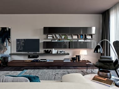 Sectional storage wall LIVE CONTEMPORARY | Storage wall