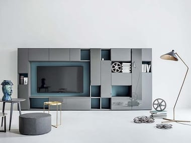 Sectional storage wall SELECTA NOCE L | Storage wall