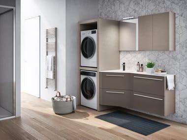 Mobile lavanderia sospeso in legno STORE EXCELLENT 03