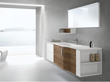Wall-mounted vanity unit with drawers STR8 109