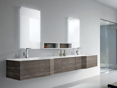 Mueble bajo lavabo doble con cajones STR8 111