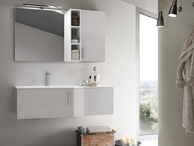 Wall-mounted vanity unit with drawers STR8 309