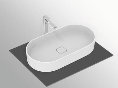 Lavabo da appoggio ovale in ceramica STRADA II - T2980