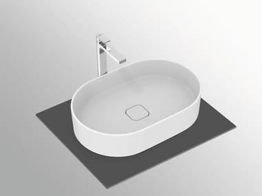 Lavabo da appoggio ovale in ceramica STRADA II - T2981