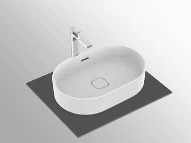Lavabo da appoggio ovale con troppopieno STRADA II - T3604