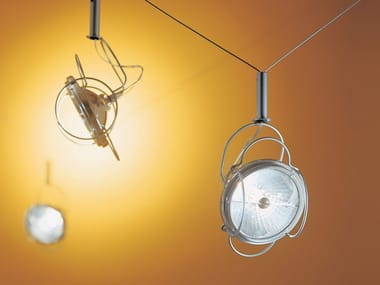 LED adjustable powder coated steel spotlight STRALE