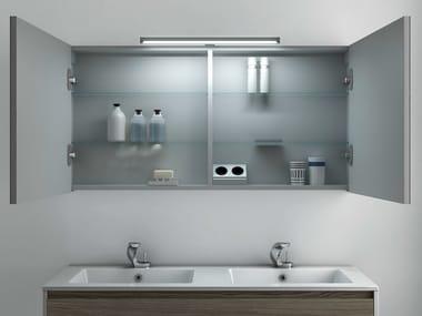Bathroom mirror with cabinet STRATO | Bathroom mirror