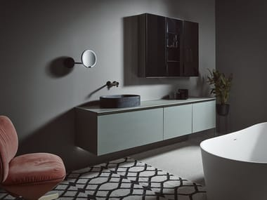 Wall-mounted vanity unit STRATO | Single vanity unit