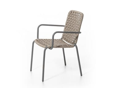 Garden chair with armrests STRAW 24