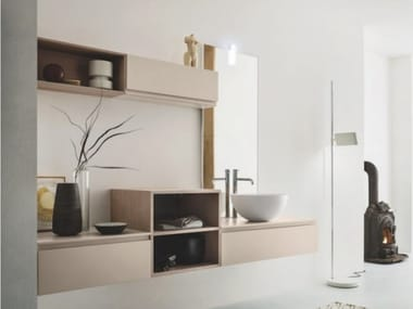Wall-mounted vanity unit with drawers STREET 24