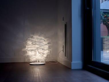 Handmade metal and polyethylene floor lamp STRUK T