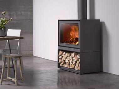 Wood-burning closed fireplace with panoramic glass STÛV 16-H