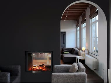 Double-sided wood-burning built-in fireplace STÛV 21-85 DF