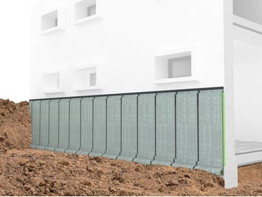 Styrodur® Earth retaining wall drainange and protection system STYROFOND