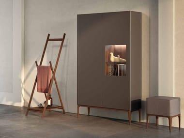 Tall sectional ash bathroom cabinet with doors SU13 | Bathroom cabinet