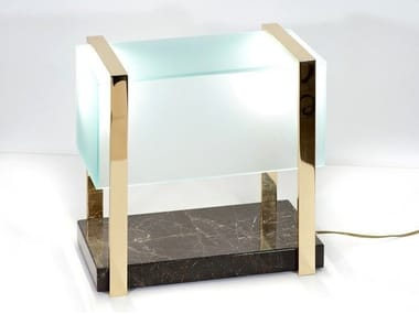 LED marble table lamp SUITCASE RECTANGULAR