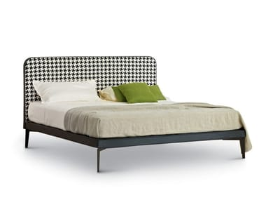 Double bed with upholstered headboard SUITE