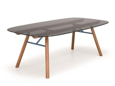 Rectangular crystal table SUITE | Table