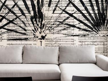 Papel de parede ecológico lavável livre de PVC SULLE NOTE DI BACH