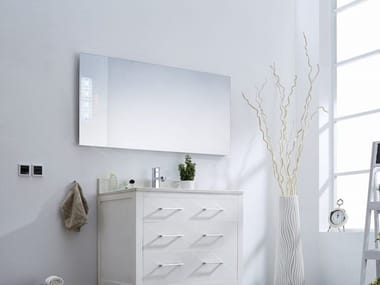 Radiant wall panel / mirror SUNINX | Rectangular mirror