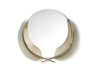 Round framed brass mirror SUNSET MIRROR