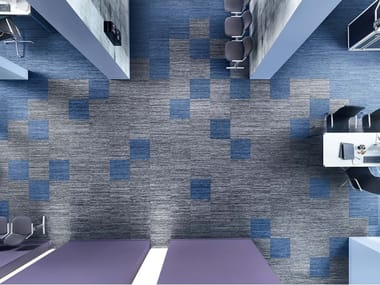 ECONYL® carpeting with geometric shapes SUPERIOR 1052