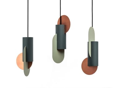 LED metal pendant lamp SUPREMATIC CS1 THREE LAMP SET