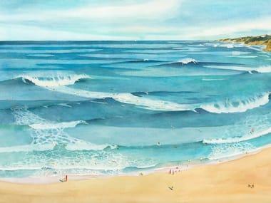Carta da parati in carta non tessuta con paesaggi SURF
