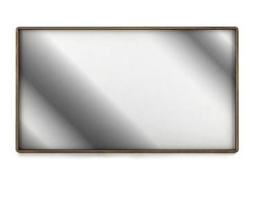 Rectangular framed wall-mounted mirror SURFACE | Wall-mounted mirror