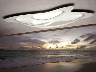 LED powder coated aluminium ceiling lamp SURFIN' | Ceiling lamp