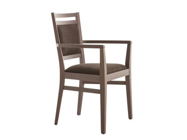Upholstered beech chair with armrests SURI 472CP.i1