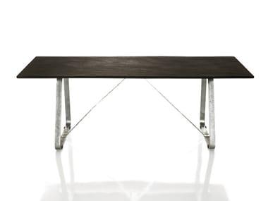 Rectangular galvanized steel table SUSSEX