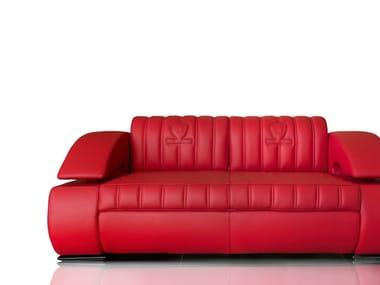 Upholstered 3 Seater Leather Sofa SUZUKA | Sofa. Tonino Lamborghini Casa