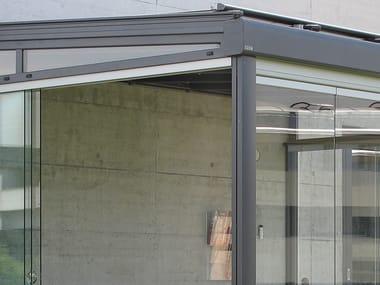 Sliding glass facade SV1020 | Glass facade