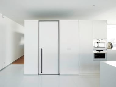 HPL pivot door with IBHG.1200 built-in handle SVD BKO