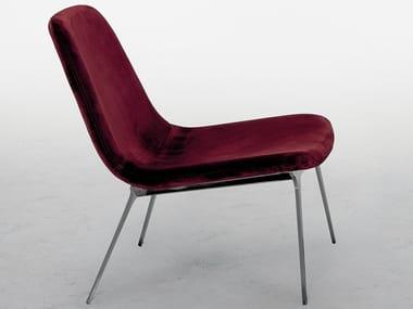 Upholstered velvet easy chair SVEVA